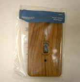 64623 Medium Oak Wood Single Switch Cover Wall Plate
