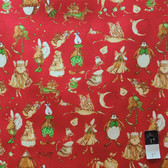 Tina Givens PWTG138 Starflakes & Glitter Christmas Pageant Scarlet Cotton By Yd