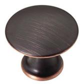 """P20652C-VBC 1 3/16"""" Bronze & Copper Discus Cabinet Drawer Knob"""