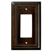 126341 Espresso Architect Single GFCI Outlet Cover Plate