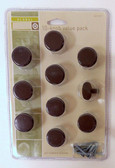"""085-03-3471  1 1/8"""" Oil Rubbed Bronze Cabinet Drawer Knob 10 Pack"""