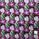 Victoria and Albert PWVA007 Benedictus Flower Stripe Fuchsia Fabric By Yard