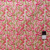 Victoria and Albert PWVA010 Garthwaite Scroll Pink Fabric By Yard