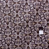 Valori Wells PWVW051 Novella Hear De Flur Charcoal Cotton Fabric By The Yard