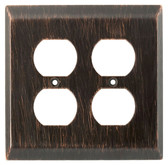 126389 Venetian Bronze Stately Double Duplex Cover Wall Plate