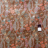 Victoria & Albert VOVA002 Bromley Ikat Damask Brown VOILE Cotton Fabric By Yard