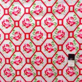 Tanya Whelan PWTW046 Sugar Hill Rose Trellis Red Fabric By Yd