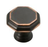 "PN0292-VBC 1 1/8"" Octagon Bronze & Copper Cabinet Drawer Knob 10 Pack"
