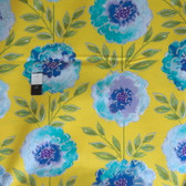 Dena Designs PWDF137 The Painted Garden Rose Yellow Fabric 1 Yard