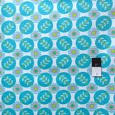 Erin McMorris PWEM040 LaDeeDa Flora Dots Aqua Fabric By The Yard