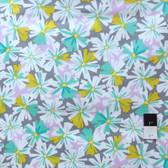Erin McMorris PWEM037 LaDeeDa Oppsy Daisy Aqua Fabric By The Yard