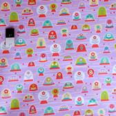 Erin McMorris PWEM039 LaDeeDa Bubbles Violet Fabric By The Yard