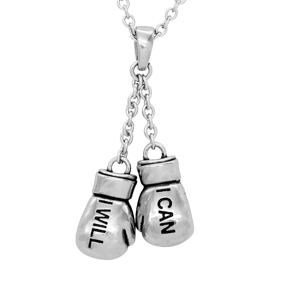 Knockout Boxing Gloves Necklace