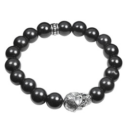 Skull and Stones( black ) Stretch Bracelet
