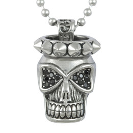 Skull and Spikes Necklace