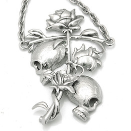 Til Death Do Us Part - Skulls with Rose Necklace