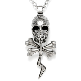 Voltage - Skull and bones with thunder necklace