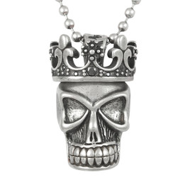 Royale - two piece crown and skull Necklace