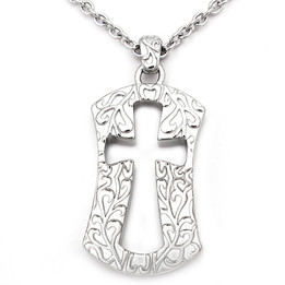 Hollow Cross - Cross Outline Necklace