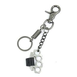 knuckle leather keyring