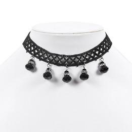 princess black lace choker necklace