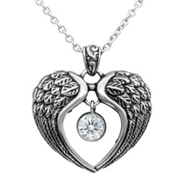 Heart Angel Wings Necklace - Wings of Light
