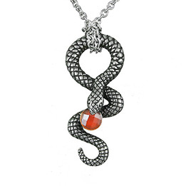 Serpentine - snake with red stone