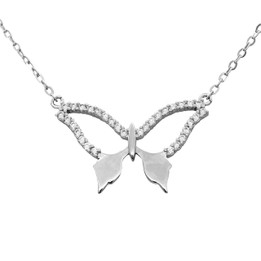 Butterfly Necklace with Cubic Zirconia