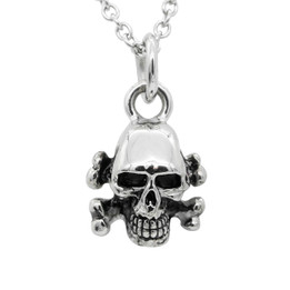 Skull Necklace with Crossbones