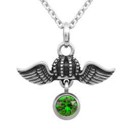 Birthstone Crown Necklace 'Crown Royal Flight' With Swarovski Crystal