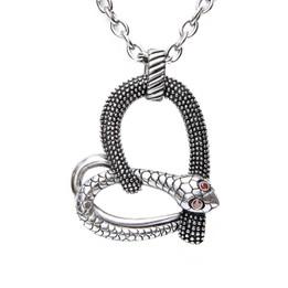 Temptation - Snake Heart Necklace
