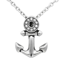 Sparkling Eye Anchor Necklace