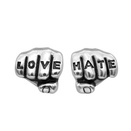 Love 'n' Hate Tattooed Hands Earrings