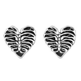 Heart Rib Cage Earrings