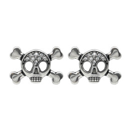 Studded Skull & Crossbones Earrings