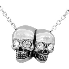 Siamese Skulls Necklace