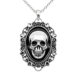 "Skull ""Portrait of Death"" Cameo Necklace"