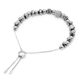 Skull Bracelet Studded Skull Bead Pull-Chain Bracelet