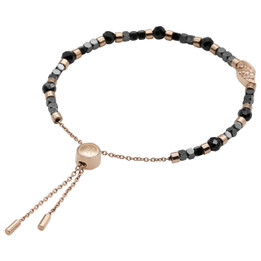 Bead Bracelet Rose Gold Wing Spinel Bead Pull-Chain Bracelet
