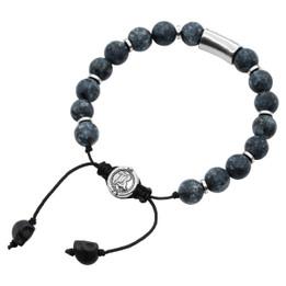 Bead Bracelet Blue Bead Pull-String Bracelet