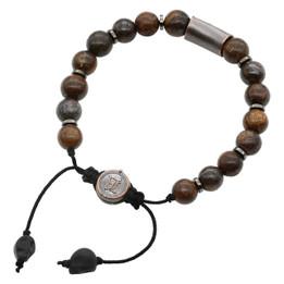 Bead Bracelet Bronze Bead Pull-String Bracelet