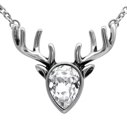 Crystal Reindeer Necklace