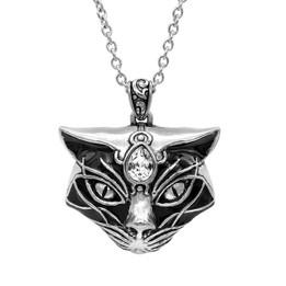 Black Magic Cat's Head Necklace