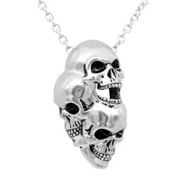 Three-Headed Skull Necklace