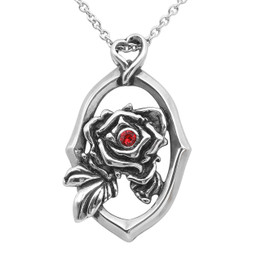 Framed Rose Necklace