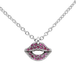 Radiant Red-Violet Lips Necklace