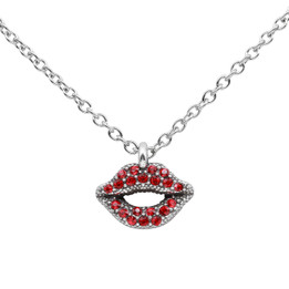 Ravishing Red Lips Necklace