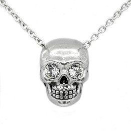 Crystal Eyed Skull Necklace