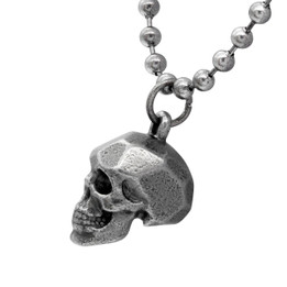 Steel Skull Beaded Necklace