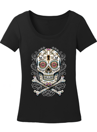 "NEW ""BLESS THE DEAD' LADIES SCOOP NECK TEE"